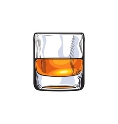 Scotch whiskey rum brandy shot glass vector image vector image