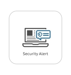 Security alert icon flat design vector