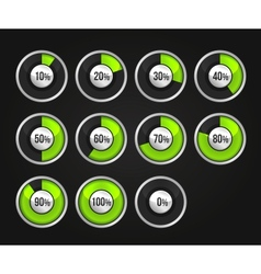 Set of progress indicator circles vector