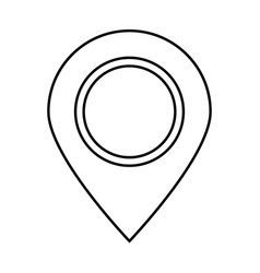sign location black color icon vector image vector image