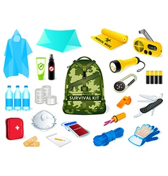 survival kit vector image