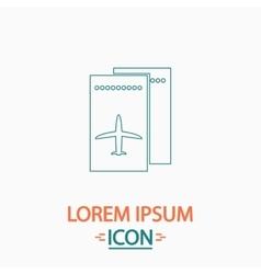 Ticket plane computer symbol vector