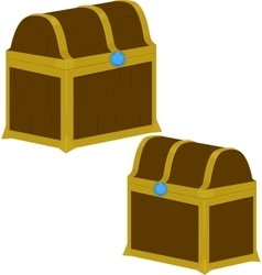Treasure chest on white background vector image vector image