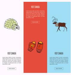 visit canada touristic web banners set vector image