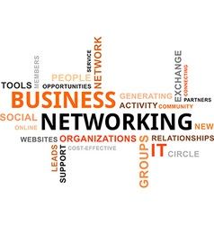 word cloud business networking vector image vector image