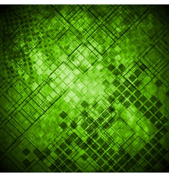 Abstract green grunge technical background vector