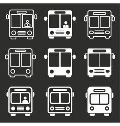 Bus icon set vector image