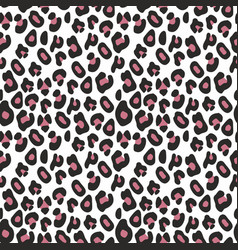 decorative seamless pattern imitation leopard vector image