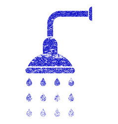 Shower grunge textured icon vector