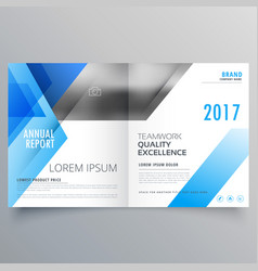 Booklet page cover magazine design with blue vector