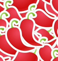 Hot red pepper seamless background vector