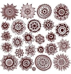 Set of beautiful ornaments vector image