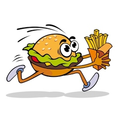 Hamburger with potato vector image