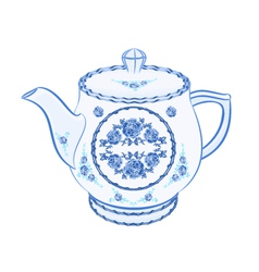 Teapot-faience vector