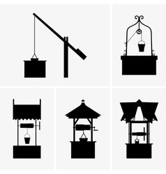 Water wells vector