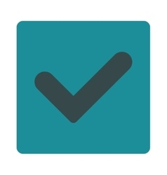 Yes flat soft blue colors rounded button vector