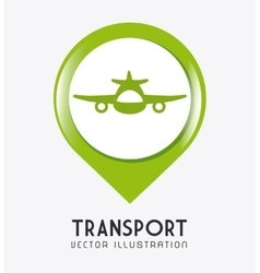 Transport traffic and vehicles design vector image