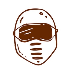 Hand drawn safety mask vector