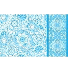 Set of seamless pattern based on traditional asian vector
