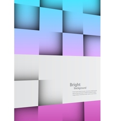 Bright background with squares vector