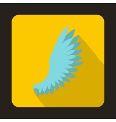 Light blue wing icon flat style vector