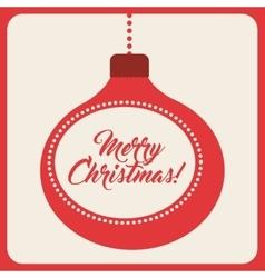 Sphere icon merry christmas design vector