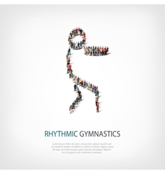 People sports gymnastics vector