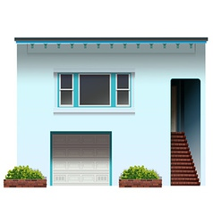 A house with a stair and a garage vector image