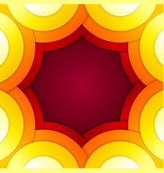 Abstract red and orange circles background vector image vector image