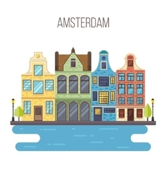 Amsterdam cityscape vector image