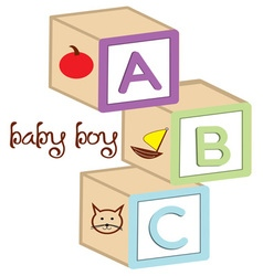 Baby boy blocks vector