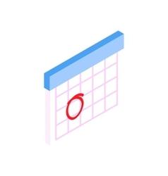 Calendar with marks menstrual days vector