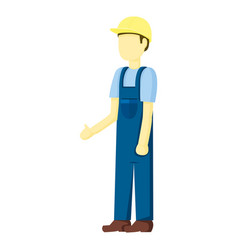 Contractor builder people vector