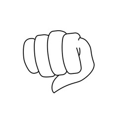 Fist hand symbol vector