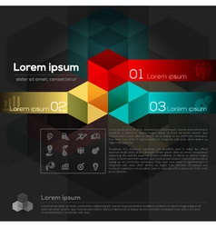 Geometric Abstract Design Layout vector image vector image