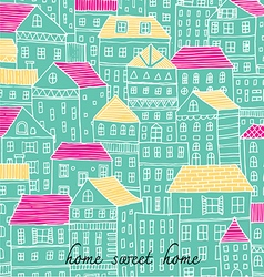 Home sweet home sketch doodle pastel color vector