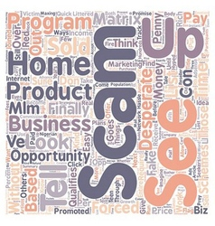 How to tell if a home based business is a scam vector