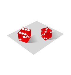 icon dice vector image