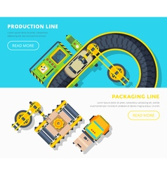 Production Line Horizontal Banners vector image vector image