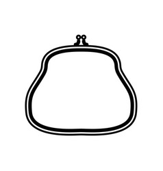 purse black color icon vector image vector image
