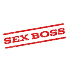 Sex boss watermark stamp vector