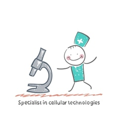 Specialist in cellular technologies looks looks vector image vector image