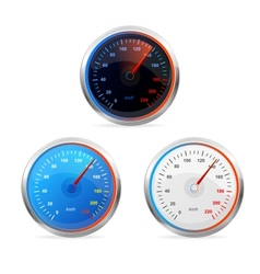 Speedometers set vector