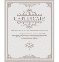 template certificate and diplomas vector image
