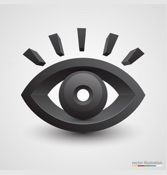 three-dimensional black eye on white background vector image