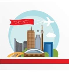 Toronto detailed silhouette trendy vector