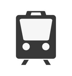 Train transportation trip design vector