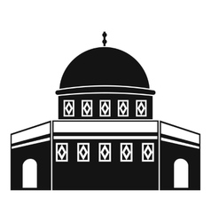 Dome of the rock on the temple mount icon vector