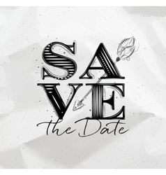 Poster wedding save date vector