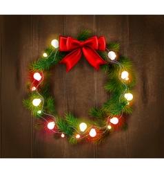 Christmas wreath template vector